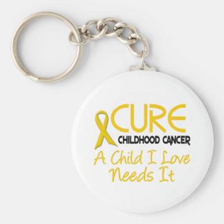 CURACIÓN de la conciencia del cáncer de la niñez Llavero Redondo Tipo Pin