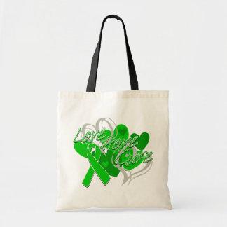 Curación de la esperanza del amor de la enfermedad bolsa tela barata
