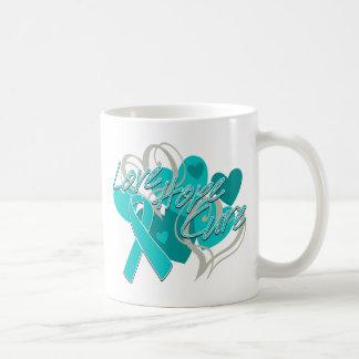 Curación de la esperanza del amor del cáncer ovári tazas de café