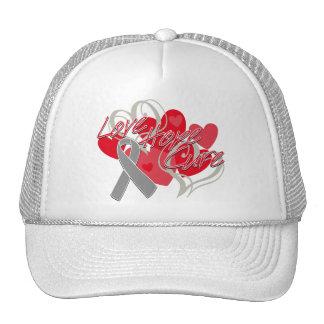 Curación de la esperanza del amor del tumor cerebr gorras