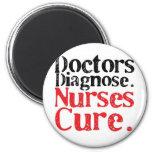 Curación de las enfermeras imán de nevera