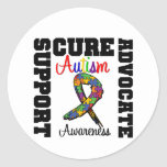Curación del abogado de la ayuda del autismo etiqueta redonda