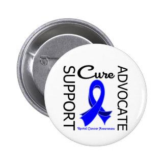 Curación del abogado de la ayuda del cáncer rectal pin redondo de 2 pulgadas