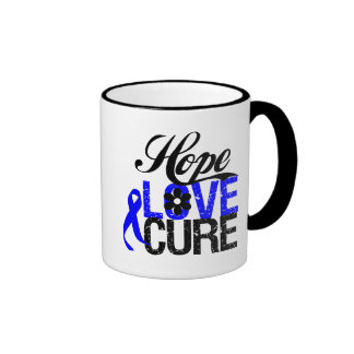 Curación del amor de la esperanza - cáncer anal taza de dos colores