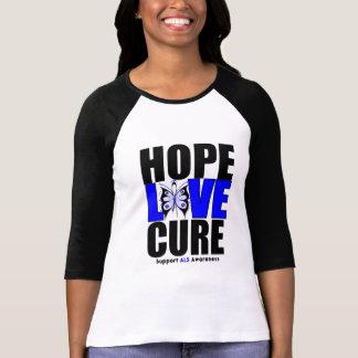 Curación del amor de la esperanza de la conciencia camiseta