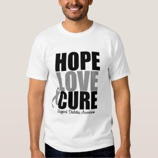 Curación del amor de la esperanza de la diabetes poleras