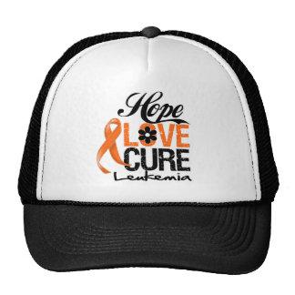 Curación del amor de la esperanza de la leucemia gorro de camionero