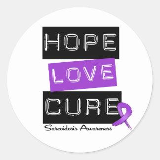 Curación del amor de la esperanza de la pegatina redonda