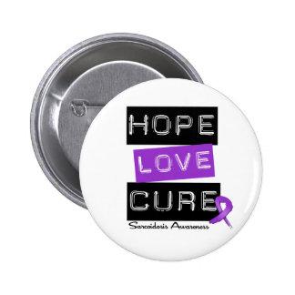 Curación del amor de la esperanza de la sarcoidosi pin redondo de 2 pulgadas