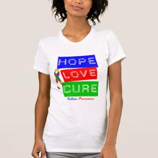 Curación del amor de la esperanza del autismo playeras