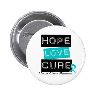 Curación del amor de la esperanza del cáncer de cu pin redondo 5 cm