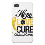 Curación del amor de la esperanza del cáncer de la iPhone 4 coberturas