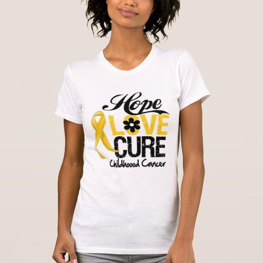 Curación del amor de la esperanza del cáncer de la camiseta