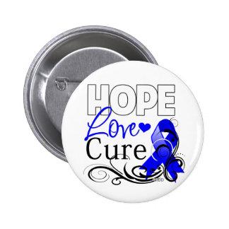 Curación del amor de la esperanza del cáncer de pin redondo de 2 pulgadas