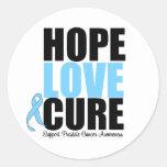 Curación del amor de la esperanza del cáncer de pr pegatina redonda