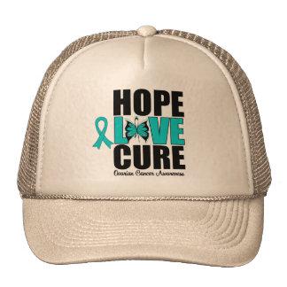 Curación del amor de la esperanza del cáncer ovári gorro de camionero