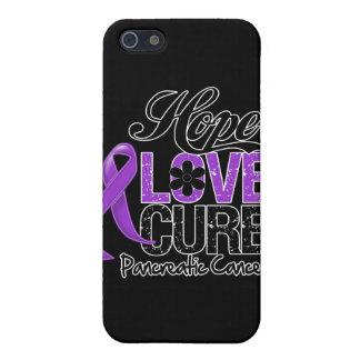 Curación del amor de la esperanza del cáncer pancr iPhone 5 carcasas