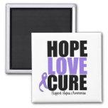 Curación del amor de la esperanza del lupus imán cuadrado