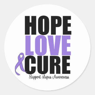 Curación del amor de la esperanza del lupus pegatina redonda