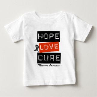 Curación del amor de la esperanza del melanoma camisas