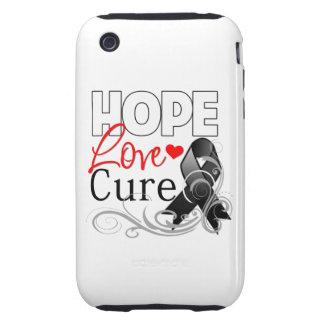 Curación del amor de la esperanza del melanoma tough iPhone 3 fundas