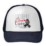 Curación del amor de la esperanza del melanoma gorras
