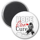 Curación del amor de la esperanza del melanoma imán de frigorífico