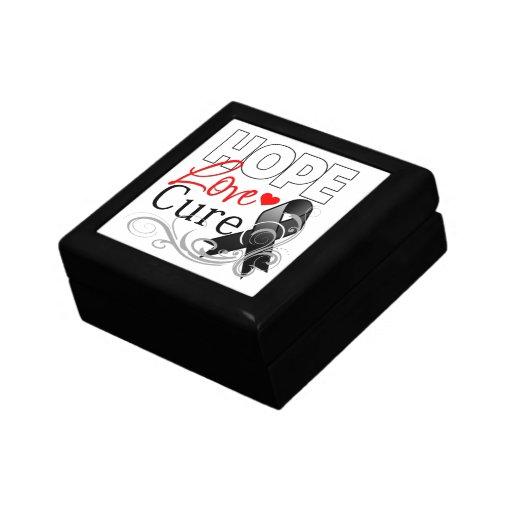 Curación del amor de la esperanza del melanoma caja de joyas