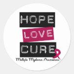 Curación del amor de la esperanza del mieloma pegatinas redondas