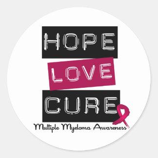 Curación del amor de la esperanza del mieloma pegatina redonda