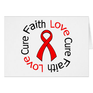 Curación del amor de la fe de la enfermedad tarjeta de felicitación