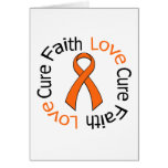 Curación del amor de la fe de la leucemia tarjetas