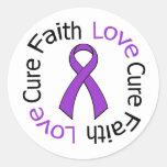Curación del amor de la fe de Leiomyosarcoma Etiquetas Redondas