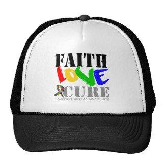 Curación del amor de la fe del autismo gorras de camionero