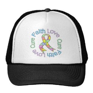 Curación del amor de la fe del autismo gorros