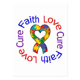Curación del amor de la fe del autismo postal
