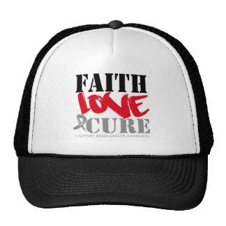 Curación del amor de la fe del cáncer de cerebro gorros bordados