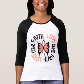 Curación del amor de la fe del cáncer endometrial camiseta