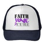 Curación del amor de la fe del Fibromyalgia Gorras