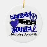 Curación del amor de la paz Ankylosing Spondylitis Adorno Para Reyes