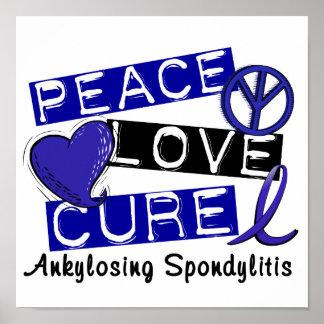 Curación del amor de la paz Ankylosing Spondylitis Póster