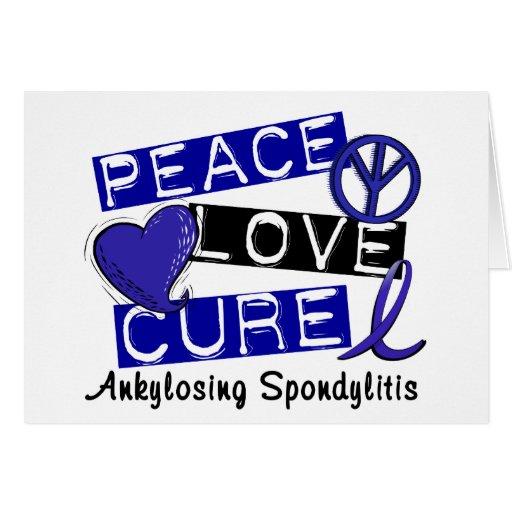 Curación del amor de la paz Ankylosing Spondylitis Felicitacion