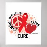 Curación del amor de la paz de AIDS/HIV Impresiones