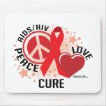Curación del amor de la paz de AIDS/HIV Tapete De Ratón