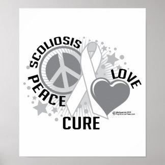 Curación del amor de la paz de la escoliosis impresiones