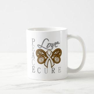 Curación del amor de la paz de la mariposa del taza básica blanca