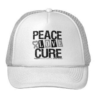 Curación del amor de la paz del cáncer de cerebro gorro