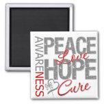 Curación del amor de la paz del cáncer de cerebro imán de frigorifico