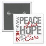 Curación del amor de la paz del cáncer de cerebro pins