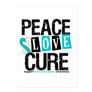 Curación del amor de la paz del cáncer de cuello d postales